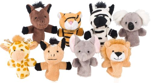 Fingerpuppen Wilde Tiere 8er Set