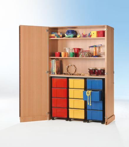 InBox Garagenschrank, 3 hohe Container L, Multicolor