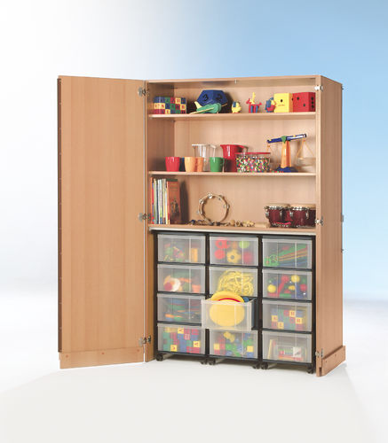 InBox Garagenschrank, 3 hohe Container L, Transparent