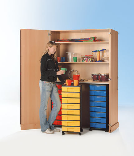 InBox Garagenschrank, 3 hohe Container M, Multicolor