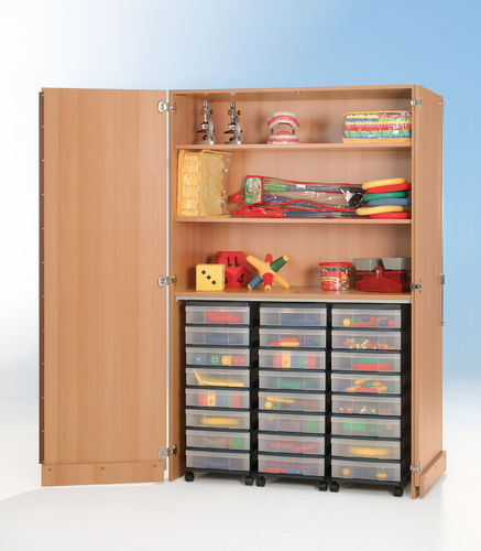 InBox Garagenschrank, 3 hohe Container M, Transparent
