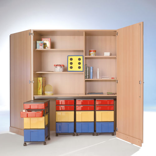 InBox Garagenschrank, 4 Container M/L, Multicolor