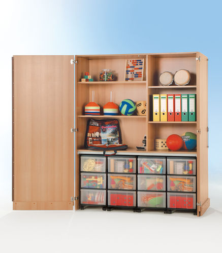 InBox Garagenschrank, 4 Container L, Transparent