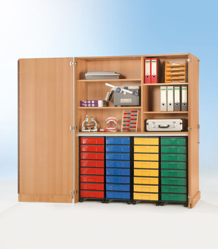 InBox Garagenschrank, 4 hohe Container M, Multicolor