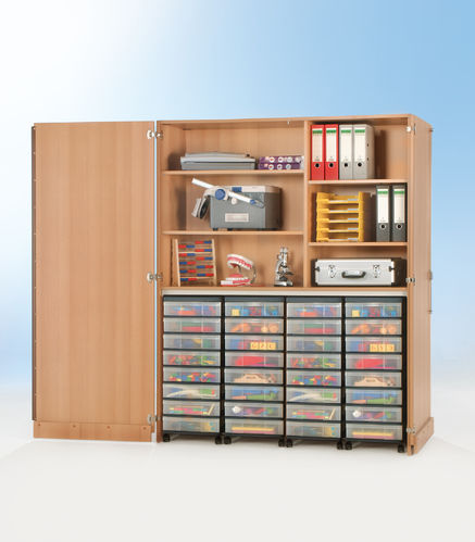 InBox Garagenschrank, 4 hohe Container M, Transparent